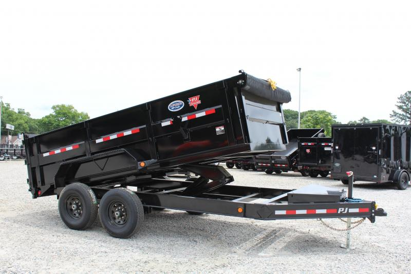 2020 PJ Trailers 7X14 DM 14K High Side Dump Trailer
