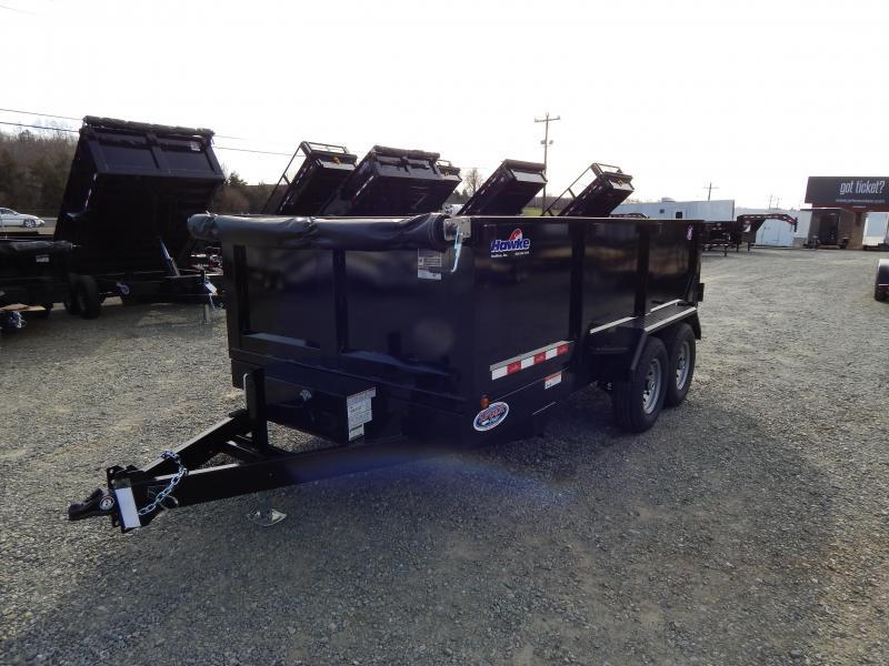 2019 Hawke 7x14 12K Dump w/ 3' Sides Ramps and Tarp