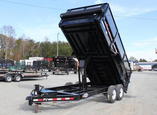 Tilt Container Trailers For Sale In Tx Nationwide Trailers >> 2019 Pj Trailers 7x16 Dl 14k Dump W 24 Exp Metal Side Extensions