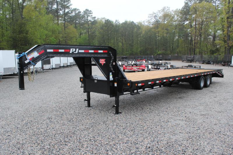 2018 PJ Trailers 34ft FD 20K Gooseneck w/Flip Over Monster Ramps