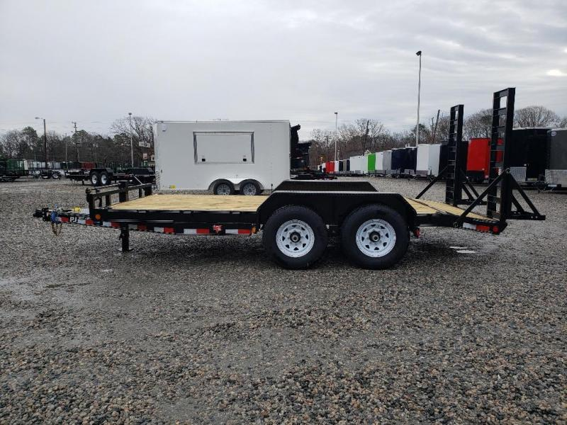2019 PJ Trailers 16' CC 14K w/ Fold Up Ramps