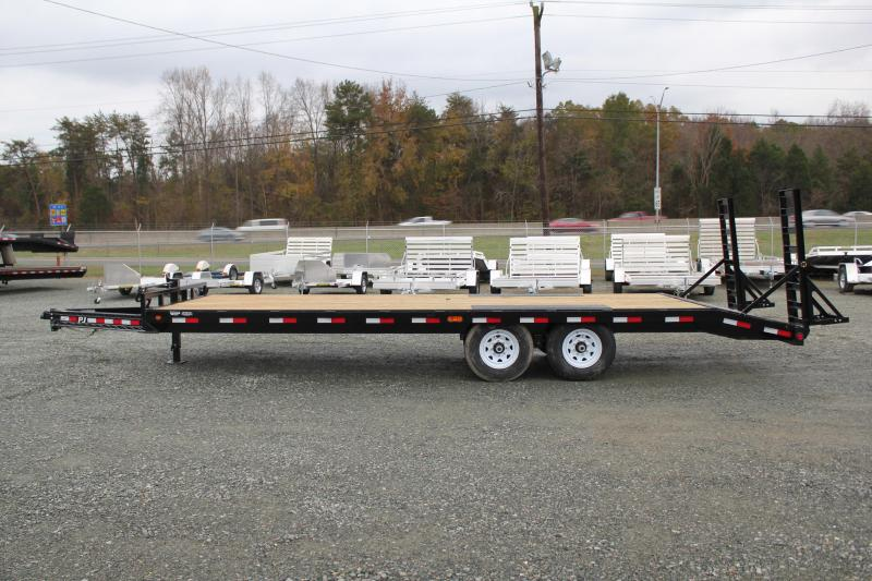2019 PJ Trailers 24 F8 14K Deckover w/ Fold Up Ramps