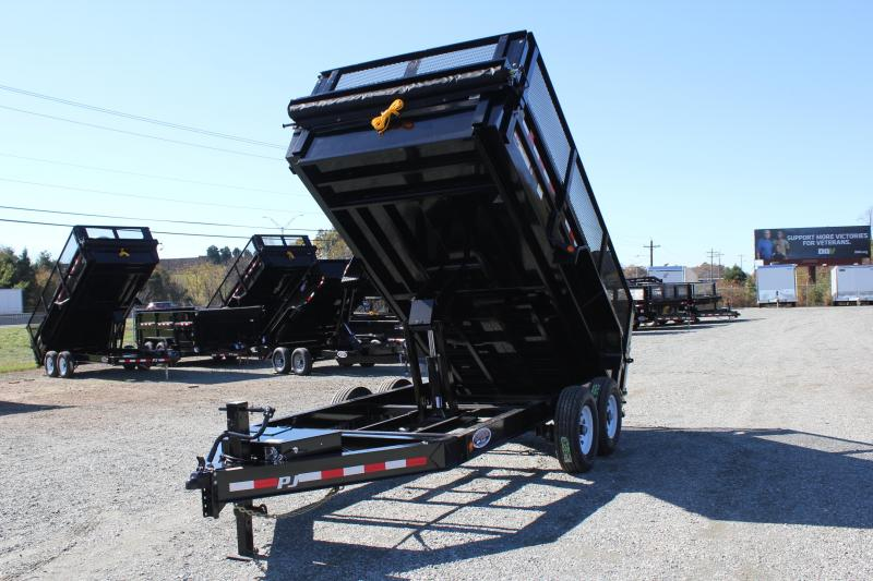 "2020 PJ Trailers 7X14 DL 14K Dump w/ 24"" Exp Metal Side Extensions"