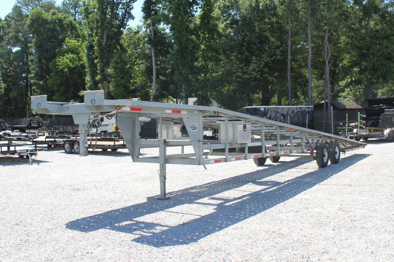 2016 Pre Owned Take 3 48ft Ultra Lite 3 Car Trailer w/ Disc Brakes & Winch