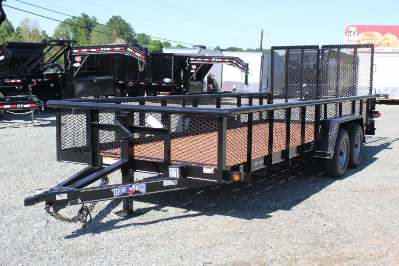 2019 Texas Bragg 20BP 10K w/ 2' Expanded Sides & Split Gate