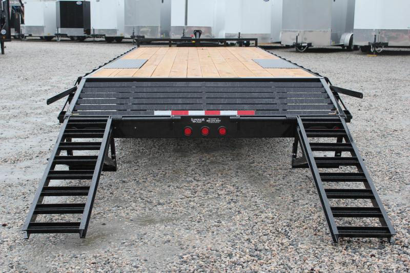 2018 PJ Trailers 24ft L6 10K Deckover w/ Foldup Ramps