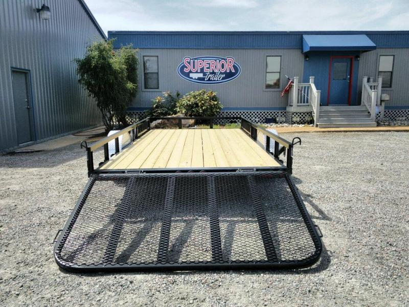 2019 PJ 7X14 U8 w/Side Mount ATV Ramps & Gate