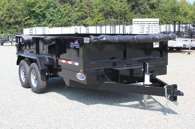2019 Hawke 7x14 12K Dump w/ Spreader Gate Ramps and Tarp
