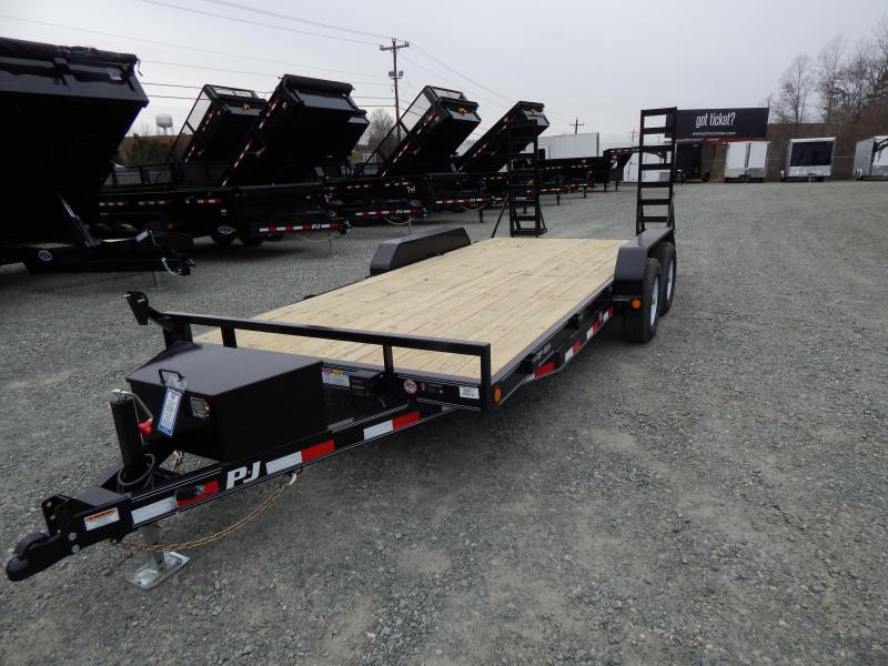 2019 PJ Trailers 18' CE 10K w/ Tongue Box & Fold Up Ramps