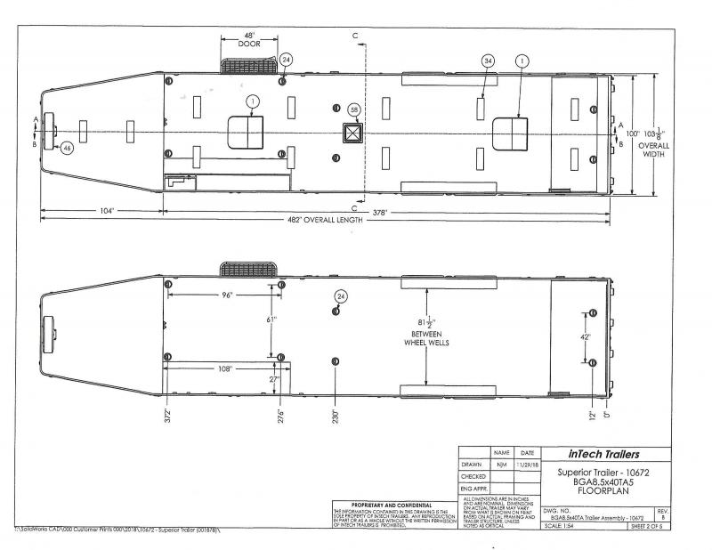 2020 inTech 8.5x40 Taper Gooseneck ALUMINUM FRAME LOADED