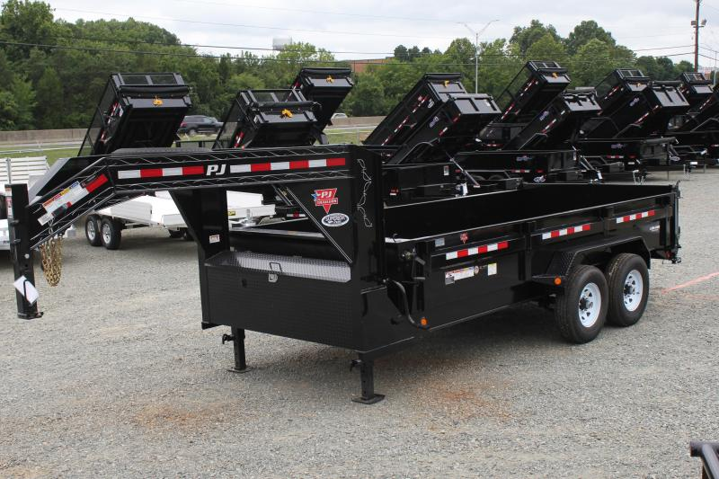 2020 PJ 7X16 DL Gooseneck Low Pro Dump Trailer