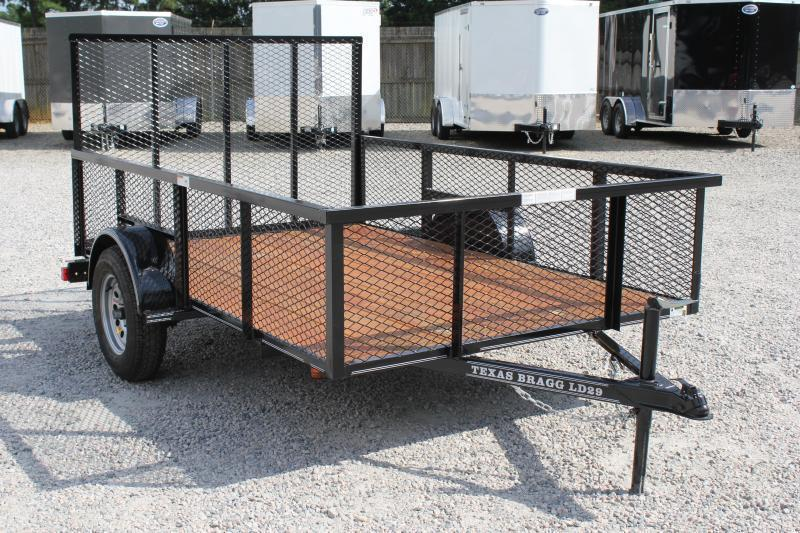 2019 Texas Bragg 6x10LD w/ 2ft Expanded Sides And Gate