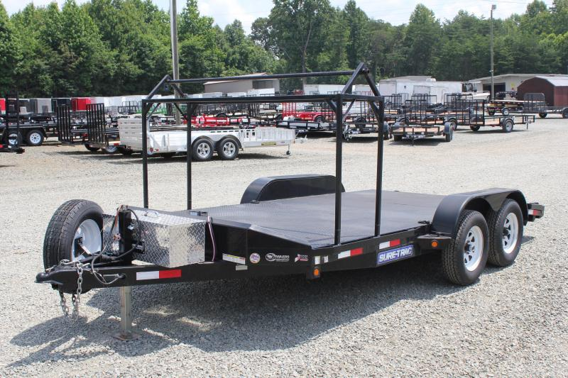 2013 Sure-Trac 16ft 7k Metal Deck car Hauler Car / Racing Trailer