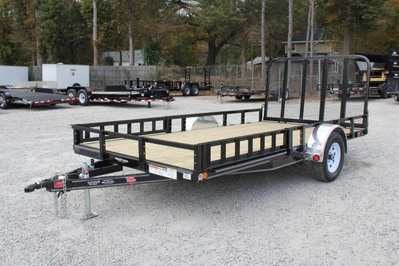 2019 PJ Trailers 7X14 U8 w/ Side Mount ATV Ramps & Tailgate