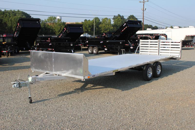 2019 Aluma 1024H 10K Overdeck Trailer w/ Split Bi Fold Gate and Air Dam
