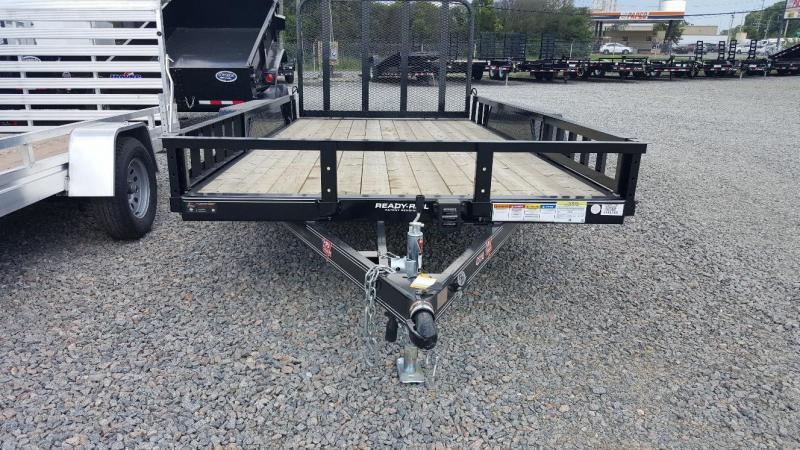 2019 PJ Trailers 14ft UK 7K Utility Trailer w/Side Mount ATV Ramps