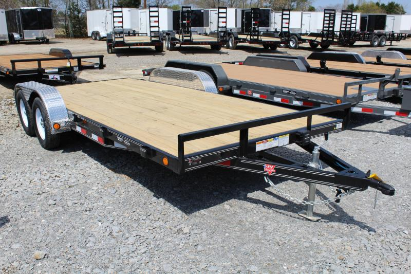 2019 PJ Trailers 18ft C4 7K Car / Racing Trailer w/ Slide In Ramps