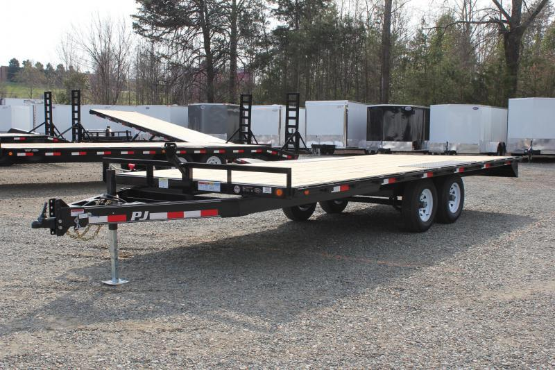 2020 PJ Trailers 20ft L6 10K Deckover w/Slide in Ramps