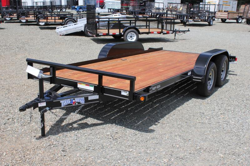 2019 Texas Bragg 16 LCH Car Trailer w/ Slide in Ramps