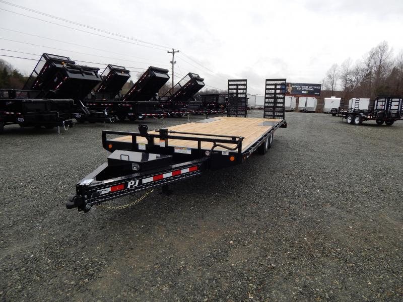2019 PJ Trailers 24 F8 14K Deckover w/ 31x66 HD Expanded Ramps