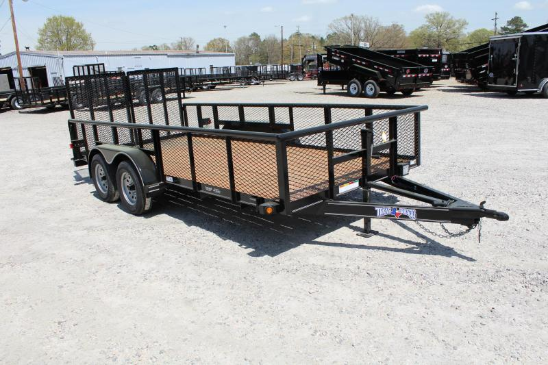 2019 Texas Bragg Trailers 16P w/ 2' Expanded Sides & Split Gate