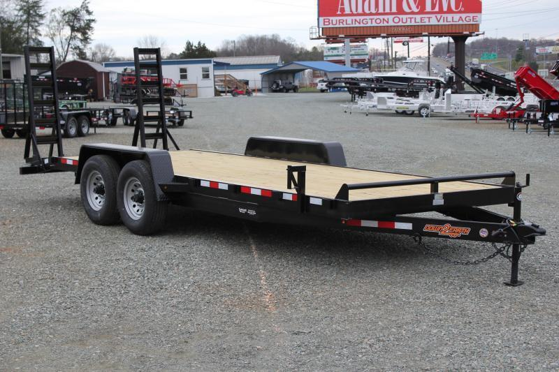 2019 Down 2 Earth 18ft 14K w/Fold Up Ramps