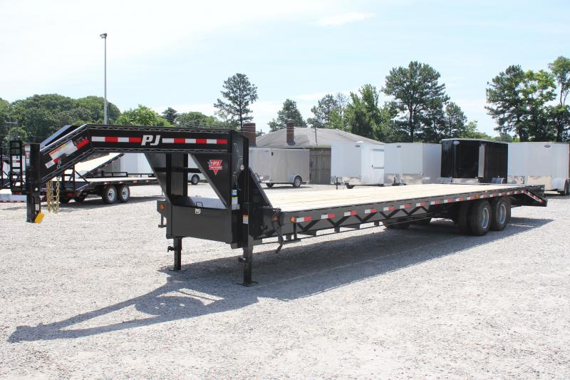2019 PJ Trailers 36ft FD w/ 12K Axles and Flip-over Monster Ramps