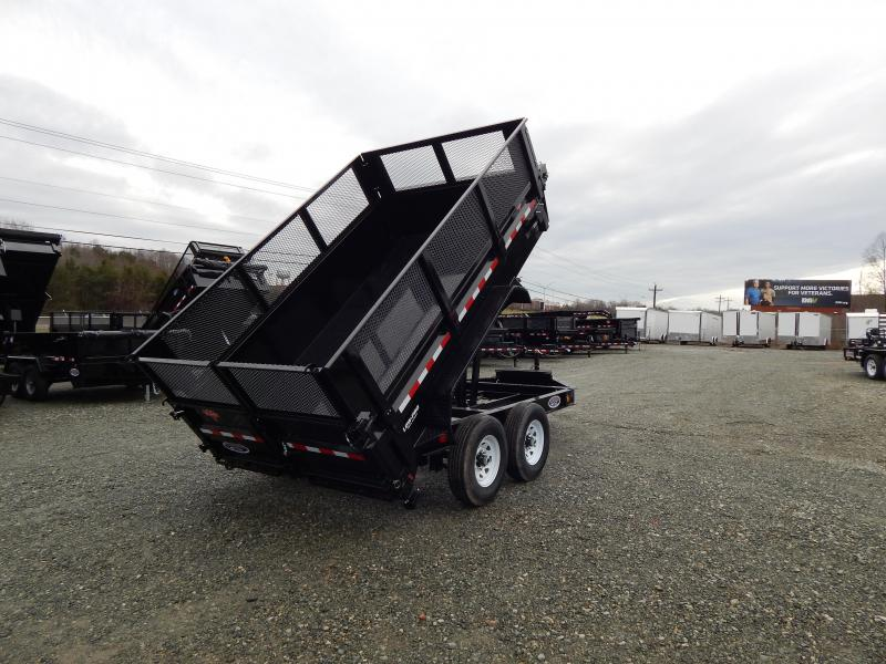 "2019 PJ Trailers 7X12 DL 14K Dump w/ 24"" Exp Metal Side Extensions"