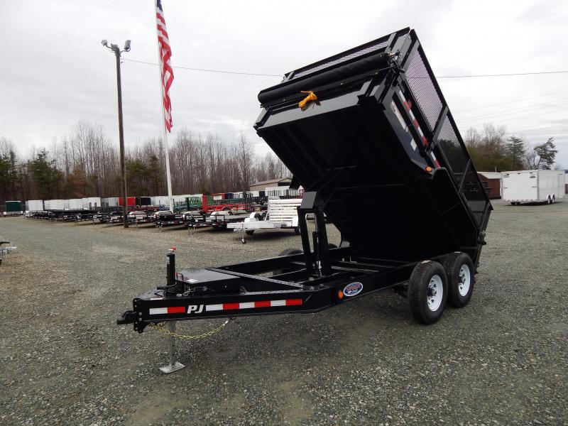 "2020 PJ Trailers 7X12 DL 14K Dump w/ 24"" Exp Metal Side Extensions"