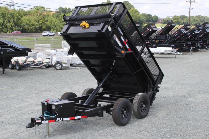 2020 PJ Trailers 5X10 D5 10K Dump w/ Extended Sides