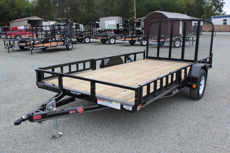 2018 PJ 7x14 U8 w/ Side Ramps & Gate