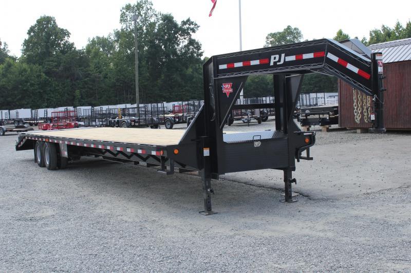 2019 PJ 40 FD Gooseneck w/ AIR RIDE 12K Axles & Monster Ramps