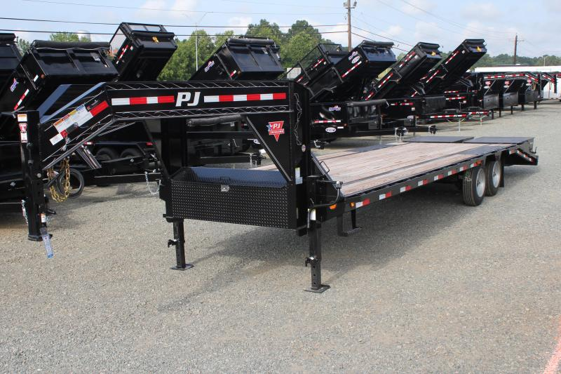 2020 PJ Trailers 28' Low Pro Gooseneck w/ Monster Ramps