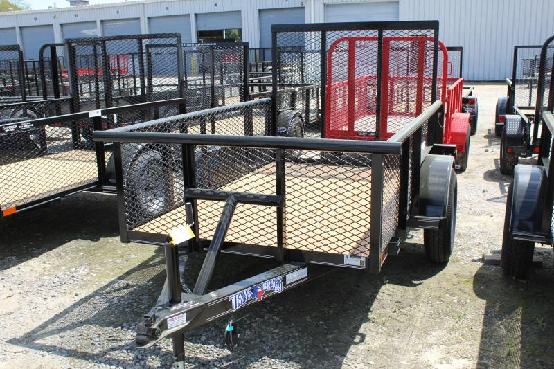 2019 Texas Bragg Trailers 5X8P Utility Trailer w/Expanded Metal Sides