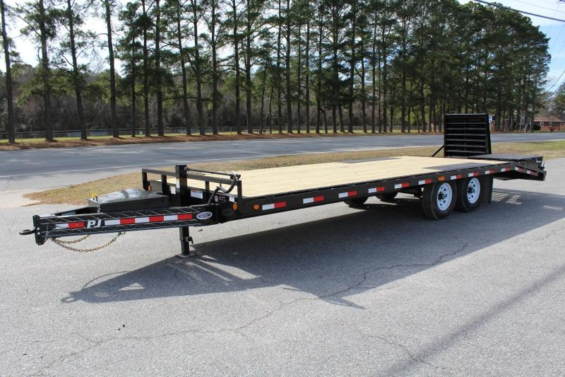 2019 PJ Trailers 24' F8 16K Deckover w/ Monster Ramps