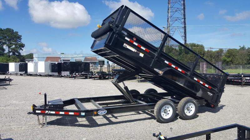 "2019 PJ Trailers 7X16 DL 14K Dump Trailer w/24"" Exp Metal Side Extensions"