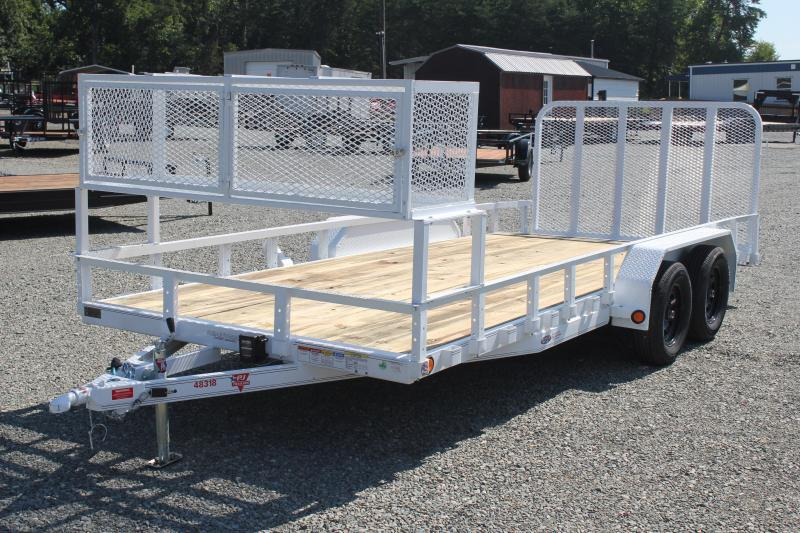 2019 PJ 7x18 UL w/ 2x2 Box Dovetail & Gate