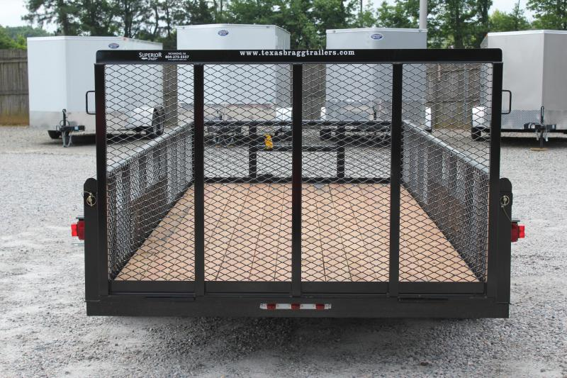 2018 Texas Bragg Trailers 16P 2ft Expanded Sides & Gate