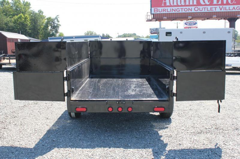 2018 PJ Trailers 5X10 D5 7K Dump w/ Extended Sides