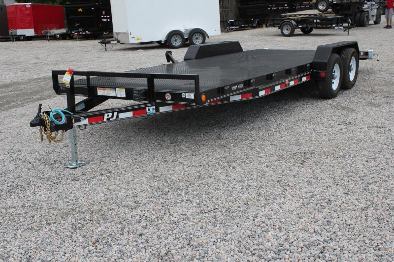 2019 PJ Trailers 22ft CE 10K Equipment Trailer w/ Rear Slide in Ramps