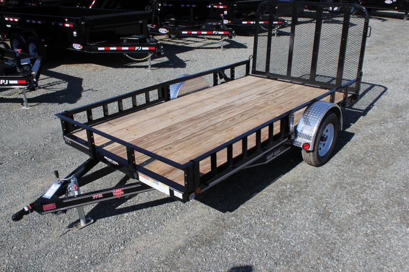 2020 PJ 6x12 U7 w/ Side Ramps and Gate