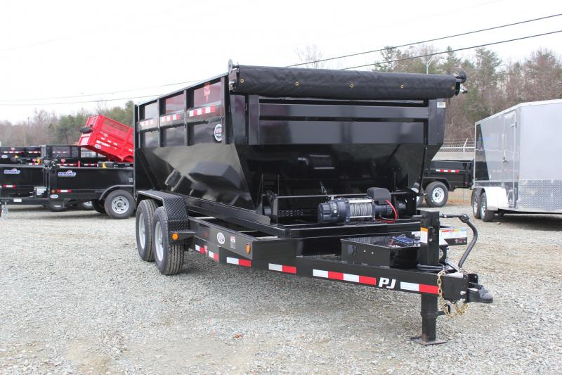 2020 PJ Trailers 7X14 DR 14K Roll Off Dumpster Trailer in Ashburn, VA