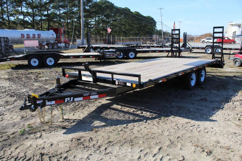 2018 PJ Trailers 20ft L6 10K Deckover w/ Fold Up Ramps