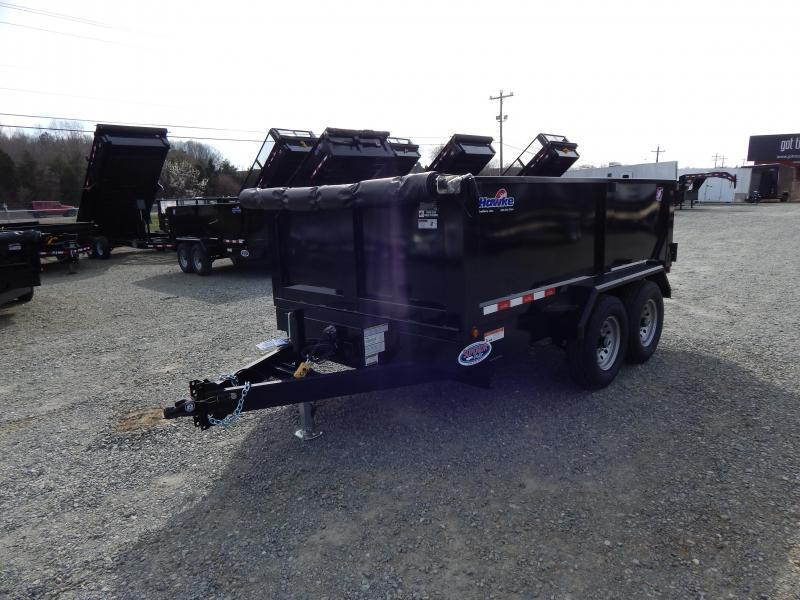 2019 Hawke 7x12 12K Dump w/ 3' Sides Ramps and Tarp