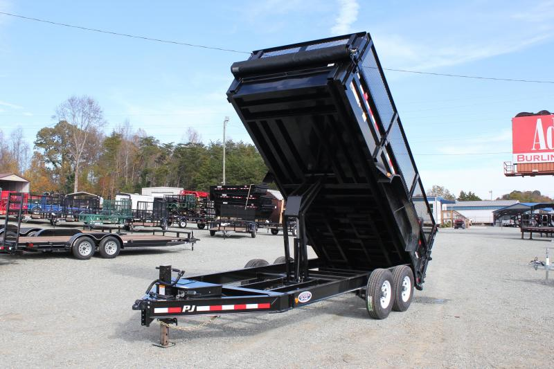 "2019 PJ Trailers 7X16 DL 14K Dump w/ 24"" Exp Metal Side Extensions"