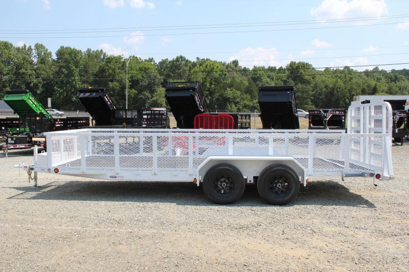 2019 PJ Trailers 20 10K UL w/2ft Expanded Sides Dovetail & Split Gate