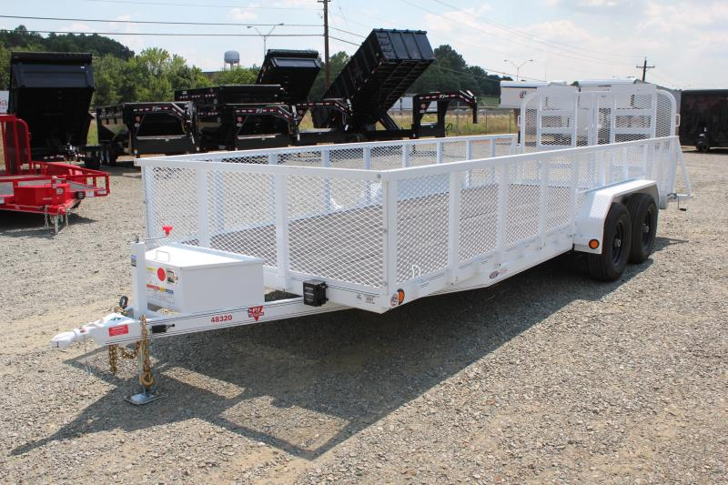 2019 PJ Trailers 20' 10K UL w/ 2ft Expanded Sides Dovetail and Split Gate