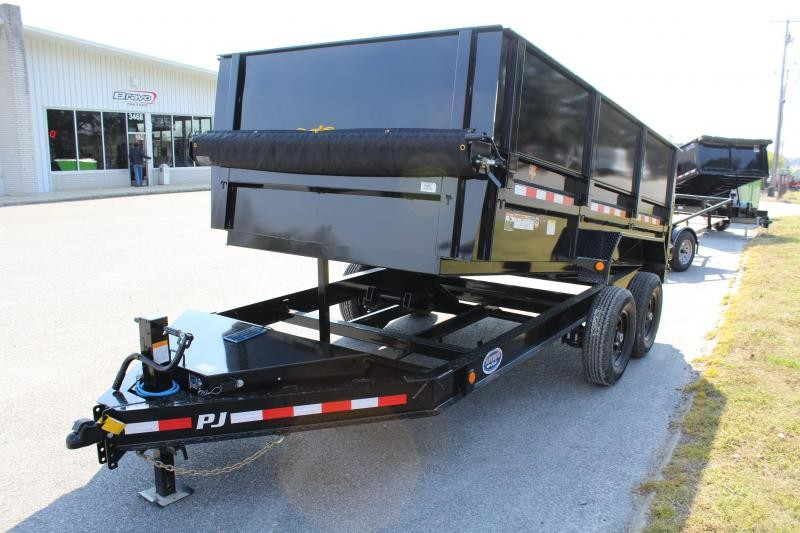 "2020 PJ Trailers 7X14 DL 14K Dump Trailer w/24"" Solid Side Extensions"