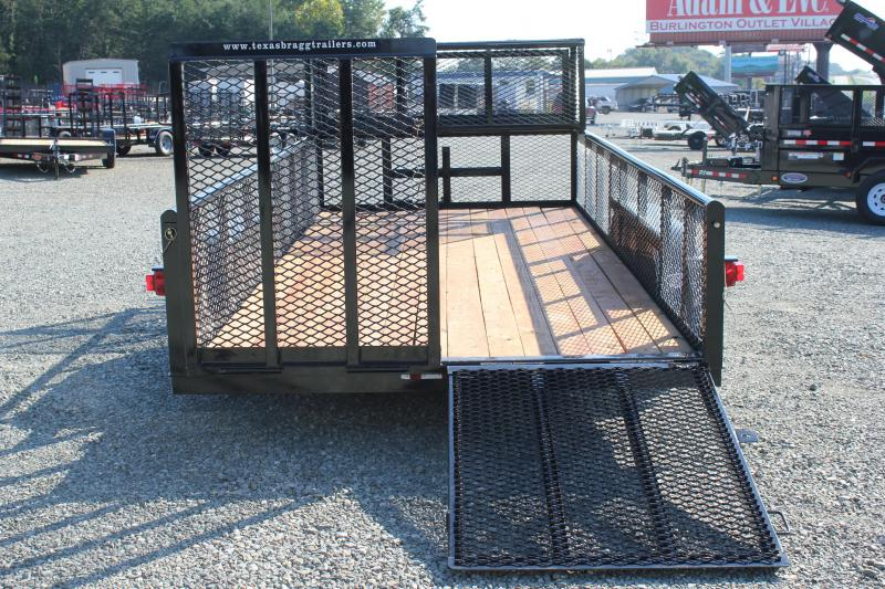 2018 Texas Bragg 16P w/ 2ft Expanded Sides 2x2 Box & Split Gate