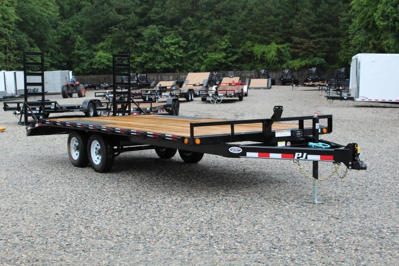 2020 PJ Trailers 20ft L6 10K Deckover w/ Fold Up Ramps